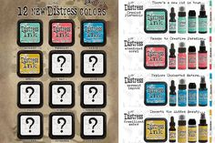 Tim Holtz Colors of the Month | 12% - 25%  off! A new Distress color each and every month.   $2.62 | $4.49 for a limited time!