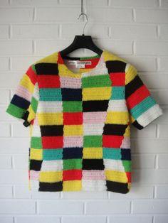 """Comme des Garcons crochet sweater (pour un look """"Elmer l'éléphant"""" ...... ;-) )"""