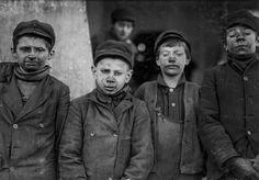 Breaker boys employed by the Pennsylvania Coal Company, 1911.