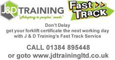 Fast Track forklift certification only 10 http://ift.tt/1HvuLik #JDTrainingLtd #training #rtitb #forklift #safety #jobsearch #jobs