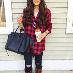 Buffalo check tunic.