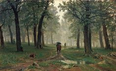 Rain in an Oak Forest, by Ivan Shishkin