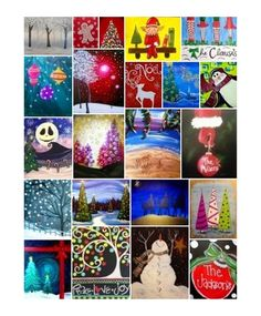 Holiday Open Studio @ Pinot's Palette The Woodlands. Come paint your favorite Holiday painting with assistance from our artists!