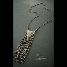 #necklace #makrame #handmade #bohostyle #makramelover #goldandblack #colors #ethnic #metalcolor #metalblack #metalgold