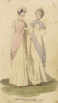 Fashion Plate (Full Dress for Decr. 1798)  England, London  1798