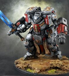 An amazing Nemesis Dreadknight conversion for a Warhammer Grey Knights army by HeavyBolter Warhammer Paint, Warhammer 40k Art, Warhammer Models, Warhammer 40k Miniatures, Warhammer Fantasy, Warhammer Games, Warhammer Figuren, Figurine Warhammer, Grey Knights