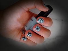 Leopardo azul Nails, Beauty, Blue Nails, Finger Nails, Beleza, Ongles, Nail, Cosmetology, Manicures