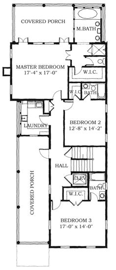 Chrl3556 exterior i love these very tall homes on very for Simple southern house plans