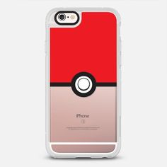 Pokeball - protective iPhone 6 phone case in Clear and Clear by Steven Toang | Let's go ! >>> https://www.casetify.com/product/DgbXT_pokeball/iphone6s/new-standard-case#/177607 | @casetify