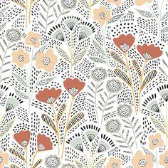 Motif Floral, Arte Floral, Folk Art Flowers, Flower Art, Surface Pattern Design, Pattern Art, Graphic Design Pattern, Pattern Designs, Pattern Ideas