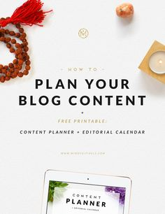 Plan your blog content - FREE Monthly Content Planner by Mindful Pixels
