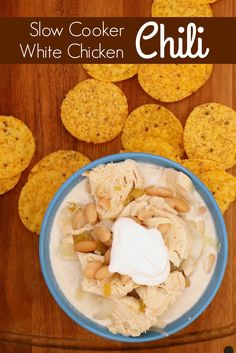 Freezer Friendly Slow Cooker recipe for White Chicken Chili from 5DollarDinners.com