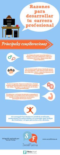 Razones para desarrollar tu carrera profesional #Profesión #Empleo #Desarrollo #Metas #RRHH