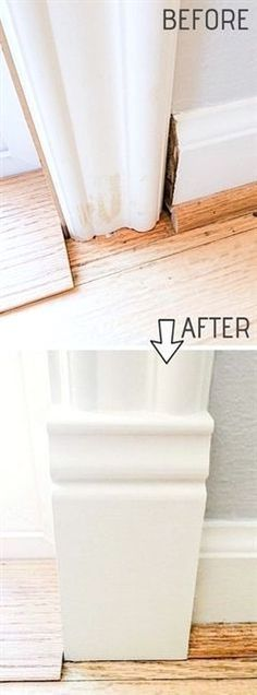 DIY Door Trim is an easy way to upgrade your home! A list of some of the best home remodeling ideas on a budget. Easy DIY, cheap and quick updates for your kitchen, living room, bedrooms and bathrooms to help sell your house! Lots of before and after photos to get you inspired! Fixer Upper, here we come. Listotic.com #RemodelingGuide #easybathroomremodeling #easykitchenremodeling #diybathroomideas