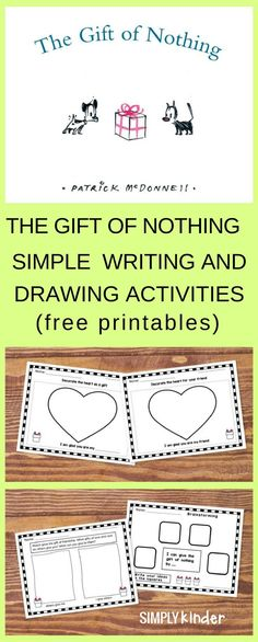 Writing and drawing activities for Patrick McDonell's delightful book, The Gift of Nothing. Free printables help encourage classroom discussion and conversations about friendship. Invite your students to use their imaginations to think about how they can give nothing and everything.