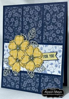 For You Triple Flower card