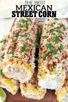 Mexican Street Corns sounds unusual if you've never had it before, at least it did to me, but in truth, it's unforgettably delicious! #streetcorn #corn #recipe
