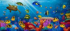 "Mural 7'4"" x3'4"" for $168 Sea Of Life Mural - David Miller| Murals Your Way"