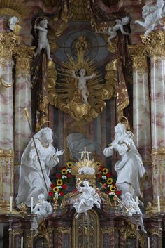 theraccolta: High altar at Mariä Geburt, Rottenbuch, Oberbayern
