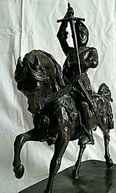 Emanuele Filiberto Savoia scultura equestre bronzo firmata C. Marochetti 1838