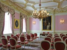 The Burlington Room - Theatre Style -  Located on the first floor of William Kent House, The Burlington Room is one of the most dynamic private rooms available.