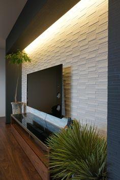 20 minimalist living room ideas with luxurious lighting 10 Living Room Tv Unit Designs, Ceiling Design Living Room, Tv Wall Design, Foyer Design, Living Room Mirrors, Home Room Design, Living Room Decor, House Design, Drawing Room Wall Design