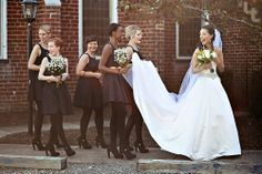 Bridesmaids dress idea for winter