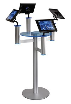 iPad info display stand #kiosk allows 4 iPads to be displayed. Perfect for exhibitions, conferences, trade shows, retail and business. http://www.xldisplays.co.uk/products/iPad-Info-Stand.html
