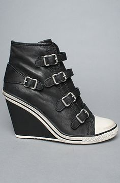 I love these...  The Thelma Sneaker in Black Camelot by Ash Shoes