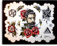 | comastar › Portfolio › M.C. Escher Tattoo Flash