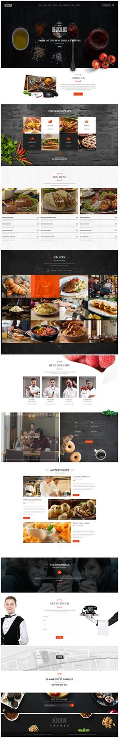 TOP collection of business WordPress themes! Best for small or medium sized corporations that need professional looking website for affordable price. Layout Site, Website Layout, Web Layout, Design Sites, Food Web Design, Blog Design, Design Design, Modern Website, Wordpress Website Design