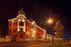 Martini Light lights on Makarova district of St. Petersburg . The project has been implemented with the aim of offering a set of lighting solutions able to reveal the architectural beauty of the facades and to make unique this big space.                                                           Designer: Piterlightproekt                               Products: Osio Pil incasso, Lux 180/260, Lux 350/400, Moove