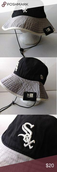 7945700c9bb13a New Era MBL Chicago Sox Floppy Cap Sun Hat NWT New Era Authentic  Merchandise Chicago SOX