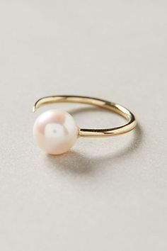 pearl cuff ring / anthropologie