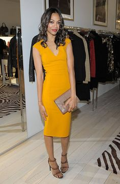 Zoe Saldana in Michael Kors | Kibbe Dramatic Classic. Great dress...not in this color though.