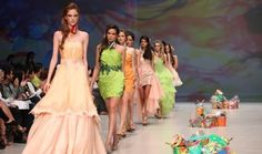 """Finale at my S/S 2012 fashion show at DUBAI FASHION WEEK Oct 2011.. Collection """"Color-coated spirit"""""""