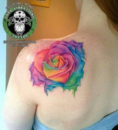 Here's a colourful watercolour/paint rose that I tattooed last week :) I love tattooing colour pieces like this! #colour #colourrose #colours #colourtattoo #rainbow #rainbowcolours #rainbowtattoo #paintsplatter #watercolour #rainbowroses #girly #girlytattoo #tattooedgirls #tatts #tattoo #tattoodesign #tattooed #Sheffieldtattoo #art #artwork #artsy #artist #GoodVibrationsTattoo