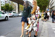Street Style Paris Fashion Week Spring 2014 #Vogue #PFW #Justyou