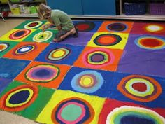 Classroom Tarp paintings from the blog - http://facaartroom.blogspot.com