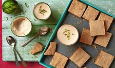 Thomasina Miers' lime, brown sugar and ginger posset with sesame shortbread: 'An easy take on posset.'