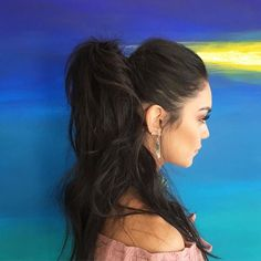 Amp up your look with a high-volume ponytail.