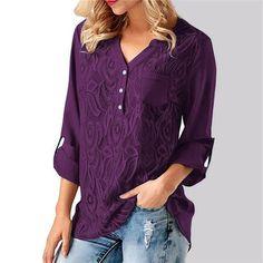 f7984839ec BRIGHT GIRL Women Shirt Summer Casual Blouses Tops V Neck Loose Shirts  Fashion Brand Woman Office