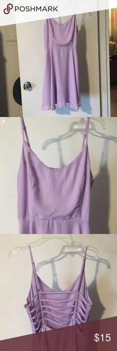Purple dress! Super cute, worn once for senior photos dress! It's purple with a cute back to it! Missguided Dresses Mini