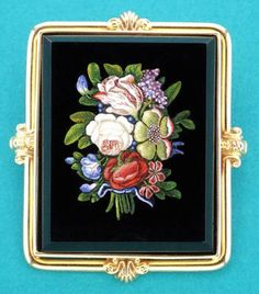 Micromosaic | Bouquet of Flowers Micromosaic Brooch (c. 1860 Italy) from Kleanthous ...