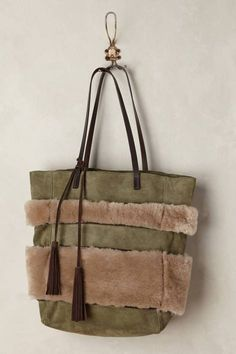 Shearling Stripe Tote by Holding Horses | Pinned by topista.com