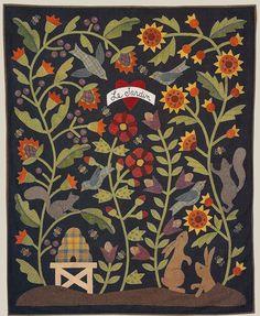 Wool applique by Bonnie Sullivan (All Through the Night)