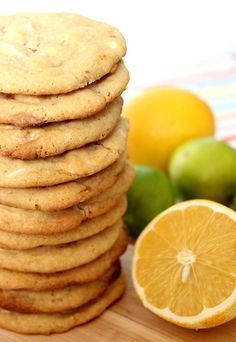 Wicked sweet kitchen: White chocolate chip cookies with lemon
