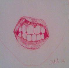 Arte piercing boca labios lips mouth art