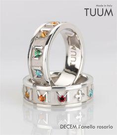 DECEM l'anello rosario di #TUUM...un marchio in vendita nella gioielleria Pisani Galleria la Maschera Scandicci http://www.pisanigioielleria.com/ Rappresenta l'innovativa interpretazione TUUM dell'anello rosario.