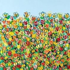 Flowers in Movement by DALMAU. Dalmau e hoje um dos grandes nomes do mercado de arte. Giclée a partir de R$2300,00. www.democrart.com.br